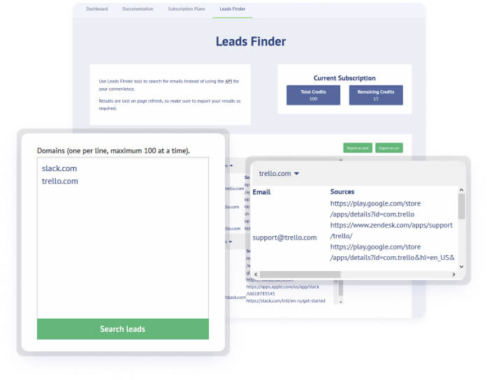 Leads finder