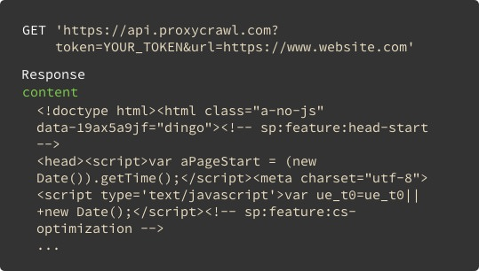 Easy to use Websites Scraping API